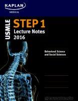 Kaplan USMLE step 1 lecture notes 2016 behavioral science  social sciences