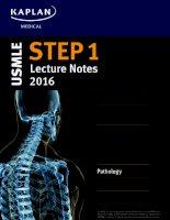 Kaplan USMLE step 1 lecture notes 2016 pathology
