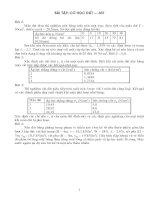 Bài tập môn cơ học đất