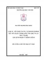 ĐÁNH GIÁ kết QUẢ của PHÁC đồ BEVACIZUMAB kết hợp XELOX TRONG điều TRỊ UNG THƯ đại TRỰC TRÀNG GIAI đoạn MUỘN tại BỆNH VIỆN k