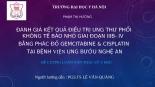 ĐÁNH GIÁ kết QUẢ điều TRỊ UNG THƯ PHỔI KHÔNG tế bào NHỎ GIAI đoạn IIIB  IV BẰNG PHÁC đồ GEMCITABINE  CISPLATIN  tại BỆNH VIỆN UNG bướu NGHỆ AN