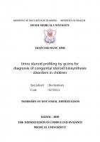 Nghiên cứu định lượng steroid niệu bằng GC MS trong chẩn đoán rối loạn sinh tổng hợp steroid bẩm sinh ở trẻ em tt tiếng anh