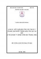 ĐÁNH GIÁ kết QUẢ điều TRỊ của THỞ máy KHÔNG xâm NHẬP TRONG điều TRỊ SUY hô hấp ở TRẺ đẻ NON tại BỆNH VIỆN NHI TRUNG ƯƠNG