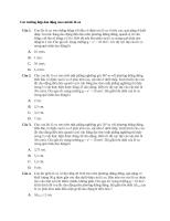 B011101 – các trường hợp dao động của con lắc lò xo