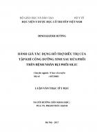 ĐÁNH GIÁ tác DỤNG hỗ TRỢ điều TRỊ của tập KHÍ CÔNG DƯỠNG SINH SAU rửa PHỔI TRÊN BỆNH NHÂN bụi PHỔI SILIC
