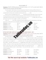 6 bài tập điền từ (30 câu) từ đề cô QUỲNH TRANG MOON  image marked image marked