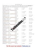 30 câu PHÁT âm từ đề cô HƯƠNG FIONA image marked image marked