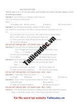 40 câu  GIAO TIẾP từ đề cô TRANG ANH tập 1  image marked image marked
