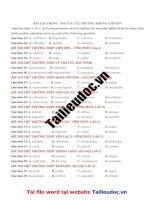 56 câu bài tập TRỌNG  âm từ đề các TRƯỜNG KHÔNG CHUYÊN  image marked image marked