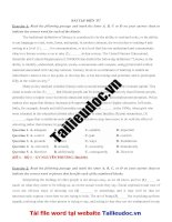 44 bài tập điền từ ( 220 câu) từ đề cô NGUYỄN PHƯƠNG   image marked image marked