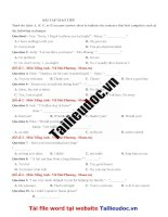43 câu GIAO TIẾP từ đề cô vũ MAI PHƯƠNG  image marked image marked