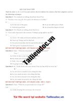 40 câu  GIAO TIẾP từ đề cô TRANG ANH tập 2 image marked image marked