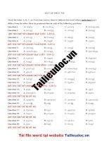 40 câu PHÁT âm từ  đề  các sở GIÁO dục đào tạo image marked image marked