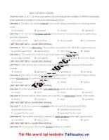 30 câu ĐỒNG NGHĨA từ đề cô HƯƠNG FIONA image marked image marked