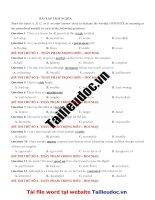 30 câu  TRÁI NGHĨA  từ đề THẦY PHẠM TRỌNG HIẾU  HOCMAI image marked image marked