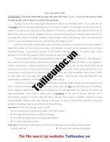 56 bài tập đọc HIỂU (389 câu) từ đề các TRƯỜNG CHUYÊN image marked image marked