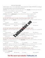 12 câu TRÁI NGHĨA từ đề cô QUỲNH TRANG MOON  image marked image marked