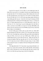 NGHIÊN cứu GIÁ TRỊ của CỘNG HƯỞNG từ 1 5 TESLA TRONG ĐÁNH GIÁ PHÂN LOẠI GIAI đoạn và THEO dõi điều TRỊ UNG THƯ cổ tử CUNG
