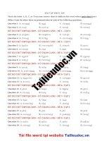 40 câu  PHÁT âm từ đề cô TRANG ANH tập 2  image marked image marked