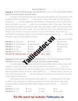 20 bài tập điền từ ( 100 câu) từ đề cô TRANG ANH tập 1 image marked image marked