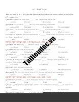 128 câu từ VỰNG  từ đề cô TRANG ANH tập 1  image marked image marked