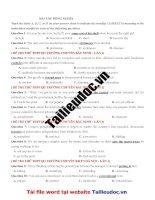 58 câu ĐỒNG NGHĨA từ đề các TRƯỜNG CHUYÊN image marked image marked