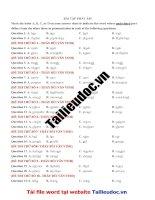32 câu  PHÁT âm từ đề THẦY bùi văn VINH  image marked image marked