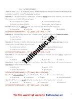 40 câu ĐỒNG NGHĨA từ đề cô TRANG ANH tập 2 image marked image marked