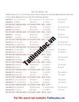 40 câu TRỌNG  âm từ đề cô TRANG ANH tập 1   image marked image marked