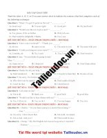 32 câu GIAO TIẾP từ đề THẦY PHẠM TRỌNG HIẾU  HOCMAI image marked image marked