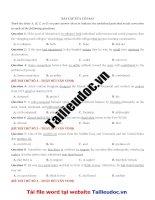 48 câu sửa lỗi SAI từ đề THẦY bùi văn VINH image marked image marked