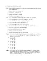 Đề lý thuyết hay và khó số 4 môn vật lý