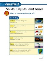 chapter 6 solids liquids and gases lesson 1 describing matter 161130022447