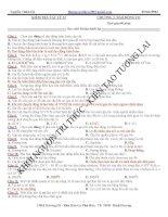 Đề 01 kiểm tra chương Dao động cơ