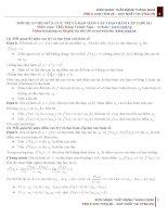 mối quan hệ giữa đạo hàm cấp 1, đạo hàm cấp 2
