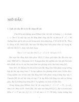 Phương pháp giải một vài lớp bài toán cân bằng và bất đẳng thức biến phân hai cấp tt