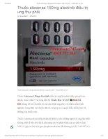 Thuốc alecensa 150mg alectinib  Thuốc đặc trị 247