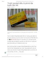 Thuốc avodart 0 5mg dutasteride  Thuốc đặc trị 247