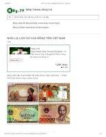 lịch sử của đồng tiền việt nam
