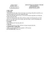 Đề KT HK i môn sinh học lớp 8 có ma trận, đáp án; trắc nghiệm và tự luận