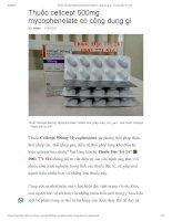 Thuốc cellcept 500mg mycophenolate ngừa thải ghép thận