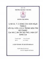 ĐÁNH GIÁ tác DỤNG của VIÊN HOÀN TD0015 kết hợp điện CHÂM TRONG điều TRỊ hội CHỨNG cổ VAI CÁNH TAY DO THOÁI hóa cột SỐNG cổ