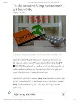 Thuốc casodex 50mg bicalutamde điều trị ung thư tiền liệt tuyến