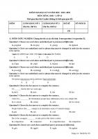 Đề thi học kì II môn tiếng Anh lớp 11