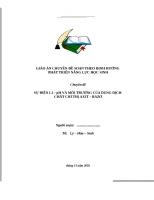 Chủ đề : SỰ ĐIỆN LI – pH VÀ MÔI TRƯỜNG CỦA DUNG DỊCH – CHẤT CHỈ THỊ AXIT – BAZƠ