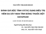 ĐÁNH GIÁ độc TÍNH và tác DỤNG điều TRỊ VIÊM dạ dày mạn TÍNH BẰNG THUỐC bột HATAPHAR