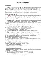 Mệnh đề quan hệ Tiếng Anh (lý thuyết + bài tập)