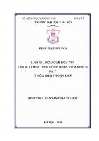 ĐÁNH GIÁ HIỆU QUẢ điều TRỊ của ACTEMRA TRÊN BỆNH NHÂN VIÊM KHỚP tự PHÁT THIẾU NIÊN THỂ đa KHỚP