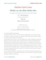 Nhiệm vụ của đoàn thanh niên   vladimir ilyich lenin