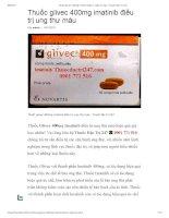 Thuốc glivec 400mg imatinib điều trị ung thư máu